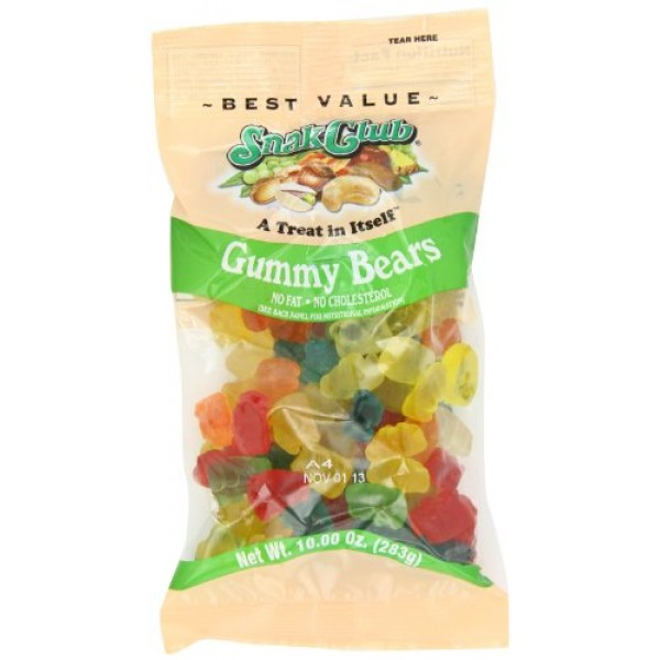Snak Club Snak Club Gummy Bears 10 oz