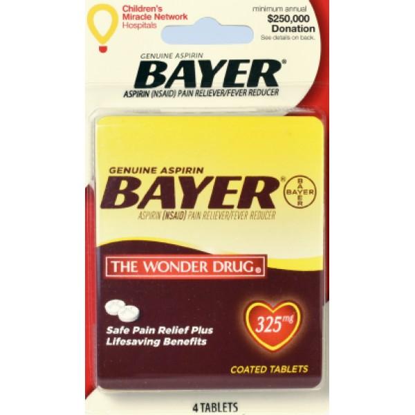 Bayer Bayer Aspirin  Pain Relied 4 ct