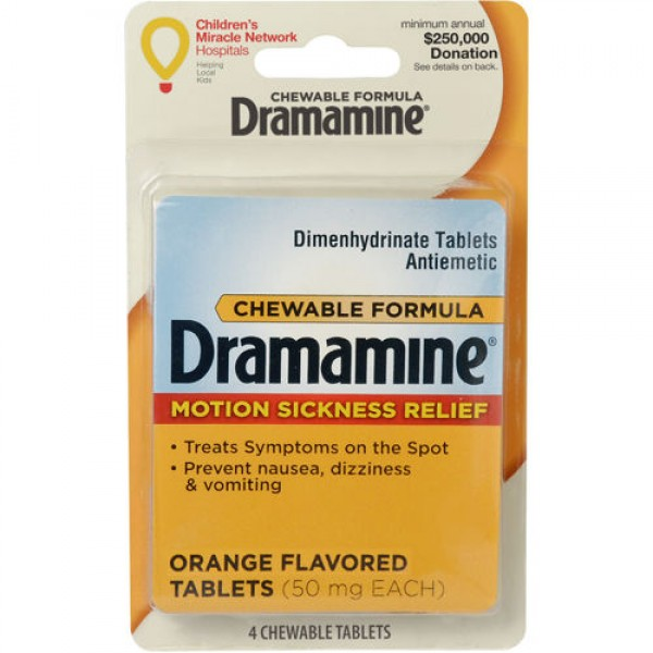 Dramamine Dramamine Motion Sickness Relief 4 tablets