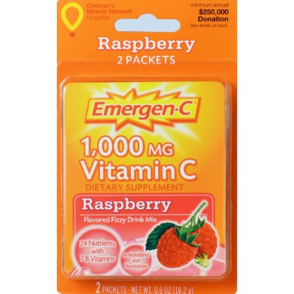 Emergen-C Emergen-C Raspberry 1000 MG Vitamin C 2 ct