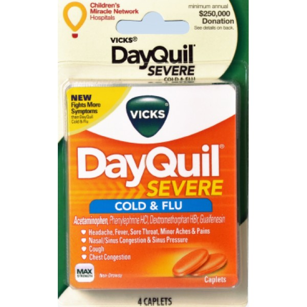 Vicks Vicks DayQuil Cold & Flu 4 Caps
